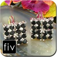 Luxury Four Black Flowers Cufflinks