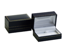 Black Cufflink Box - for two pairs