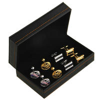 Black Cufflink Box - for four pairs