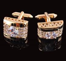 Luxury Crystal Element Cufflinks