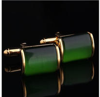 Dark Green Crystal Cufflinks