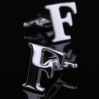Initial F Letter Cufflinks