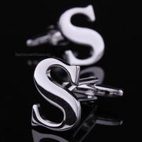 Initial S Letter Cufflinks