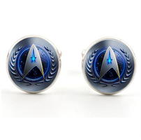 Cufflinks Star Trek blue