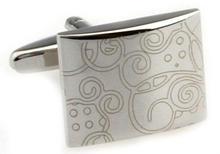 Stylish Ornament Rectangle Cufflinks