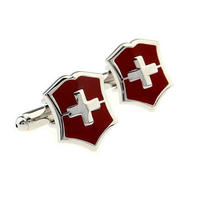 Swiss Shield Cufflinks