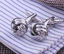 Little Silver Metal Knot Cufflinks