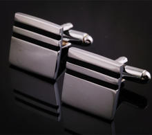 Square Two Black Stripes Cufflinks