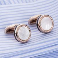 Cufflinks pearl black