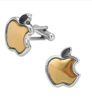 Apple gold cufflinks