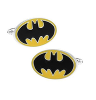 Enamel Yellow Batman Logo Cufflinks