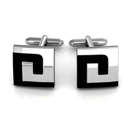 Labyrinth Design Square Cufflinks
