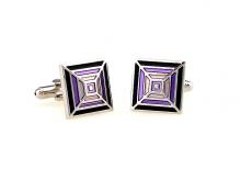 Violet Rainbow Cufflinks