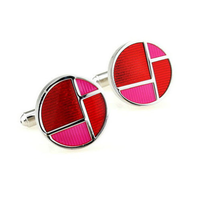Cufflinks red collage