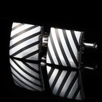 Diagonal Strips Square Cufflinks