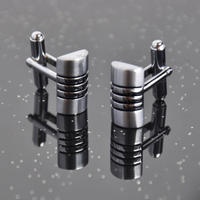 Four Grooves Rectangle Cufflinks