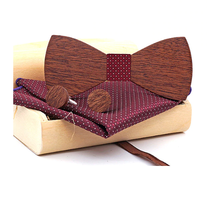Wooden Cufflinks with Butterfly Mokoš