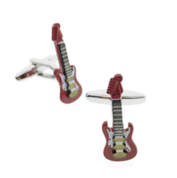 Cufflinks electric guitar red