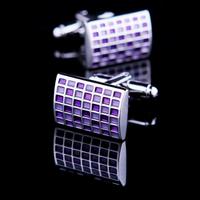 Crimson chessboard cufflinks