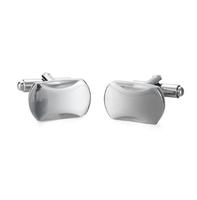 Silver oval cufflinks