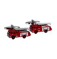 Cufflinks fire truck red