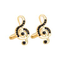 Cufflinks with violin key gold