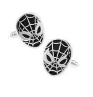 Black Spiderman Cufflinks