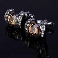 Elegant Vintage Crystal Cufflinks