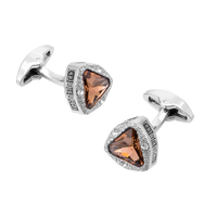 Cufflinks amber triangle