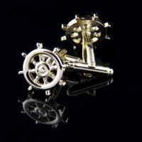 Rudder Gold Metal Cufflinks