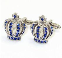 Blue Royal Crown Cufflinks
