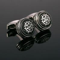 Cufflinks round ornament