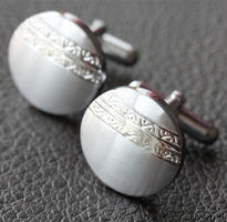 Stylish Pattern Steel Cufflinks