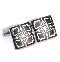 White Floral Ornament Cufflinks