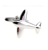Little Aeroplain Metal Cufflinks