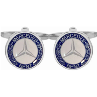 White Mercedes-Benz Cufflinks