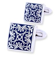 Blue Ornament Wedding Cufflinks