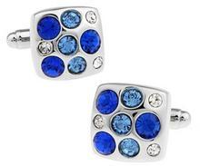 Big Blue Swarowski Element Cufflinks