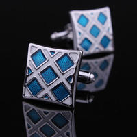 Luxury Blue Crystals Cufflinks