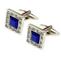 Luxury Deep Blue Crystal Cufflinks