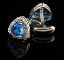 Cufflinks turquoise triangle