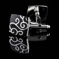 Silver Metal Ornament Design Cufflinks