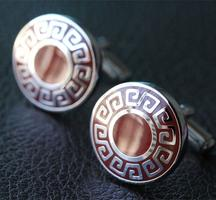 Red Greek Sign Cufflinks