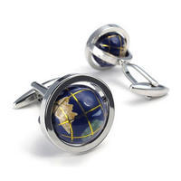 Earth Globe Cufflinks