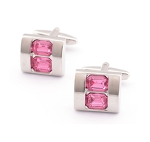 Violet Double Crystal Cufflinks