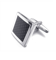 Elegant Square Black Cufflinks
