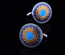 Blue Art Nouveau Cufflinks