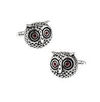 Cufflinks Round Owl