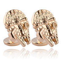 Star Wars Gold Millennium Falcon Cufflinks