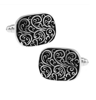 Mediaval Floral Ornament Pattern Cufflinks